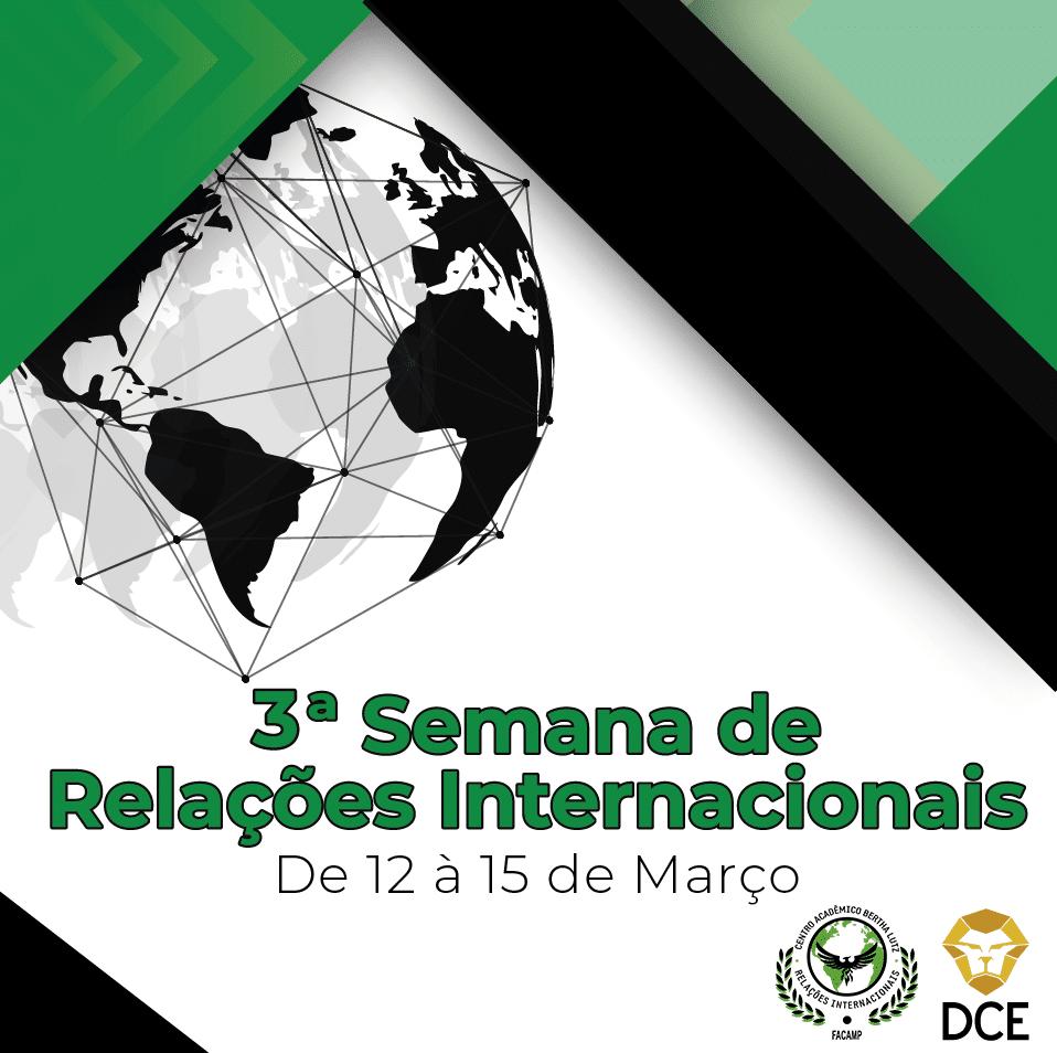 Programação da 3ª Semana de Relações Internacionais