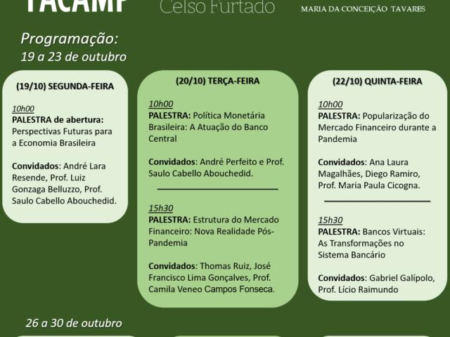 Programação - Semana de Economia FACAMP 2020
